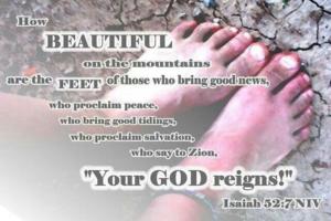 scripture over feet